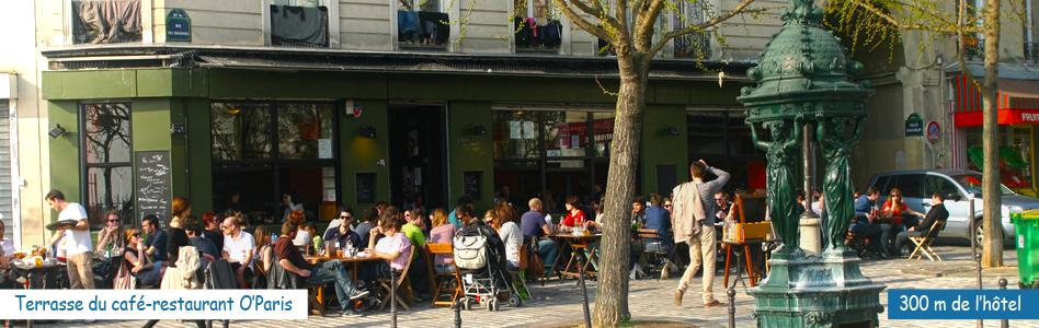Terrasse de café - Parc de Belleville