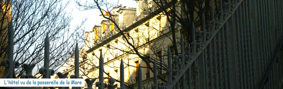 Facade de l'Hôtel de la Mare