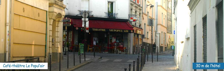 La terrasse du café-théatre Le Popul'air